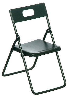 Chair dollhouse miniature furniture T4249 1//12 scale Metal Folding