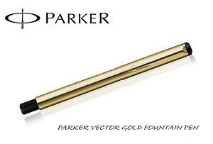 Parker-Vector-Gold-GT-Fountain-Pen-Brand-New-in-Gift-Box