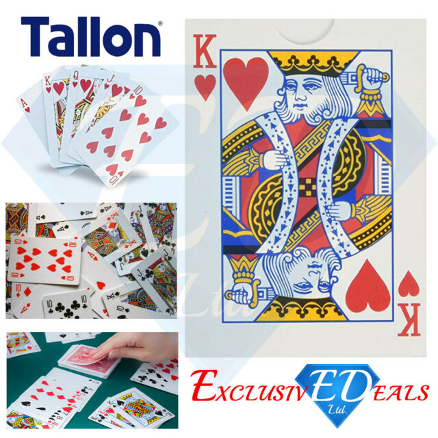 Tallon Original Playing Cards Classic Standard Size Plastic Coated Durable Deck