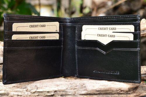 Embossed Square and Compasses Masonic Black Leather Bi-Fold Wallet Mason