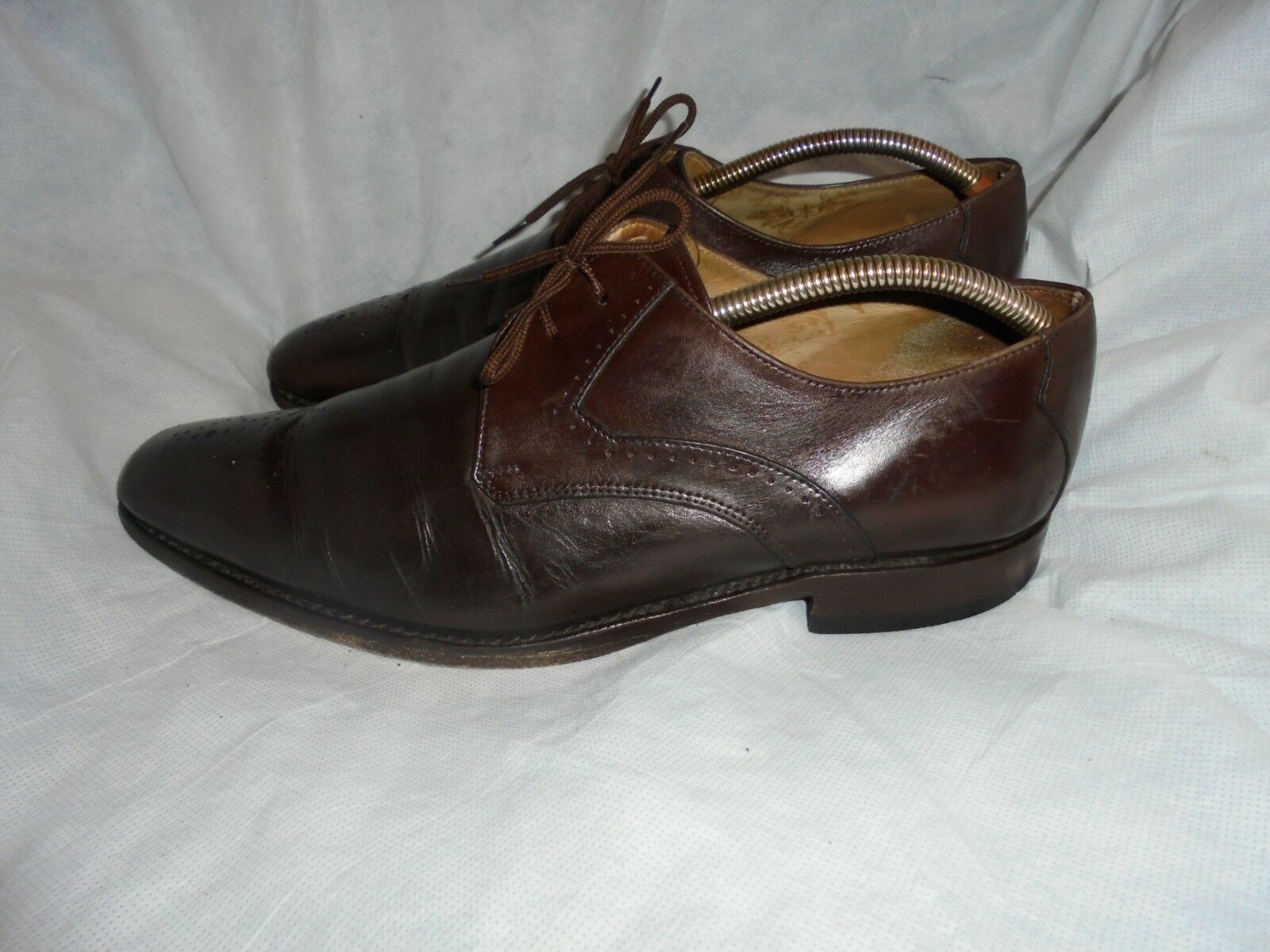 Loake LACE Schuhemakers MEN'S BROWN LEATHER LACE Loake UP BROGUES SHOE SIZE UK 9 EU 43 VGC 220d6c