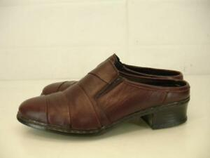 Womens UK 5 US 7 Rieker Antistress burgundy leather mules