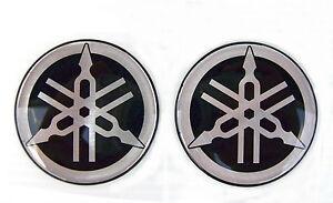 2 X Original Yamaha - 4 Cm-emblème-autocollant-simboleggia - Décalque-insignia - 40 Mm-logo-chrome-lem-aufkleber-emblema-decal-insignia-40mm-logo-chrom Fr-fr Afficher Le Titre D'origine