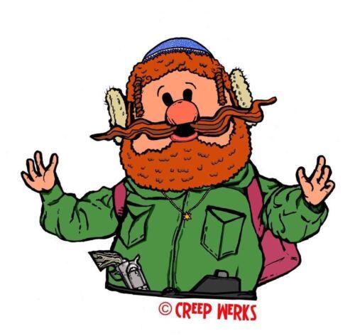 Jew-kon Cornelius Sticker Rudolph Satire Christmas Classics Chanukah Hanukkah