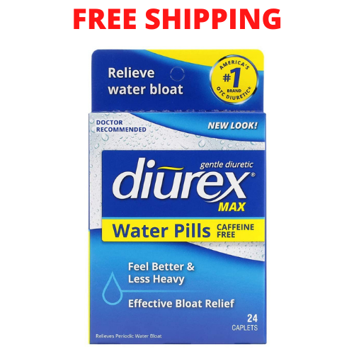Diurex Max Water Pills - Maximum Strength Caffeine Free Diuretic - Relieve - 24
