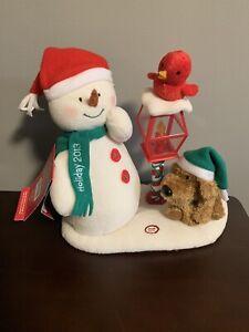 Hallmark 2013 MERRY CAROLERS Trio Snowman Dog Cardinal Bird Jingle Pals Animated