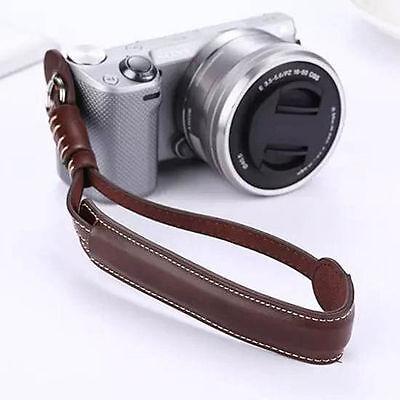Brown Camera Wrist Hand Strap PU Leather Lanyard For DSLR UK Seller