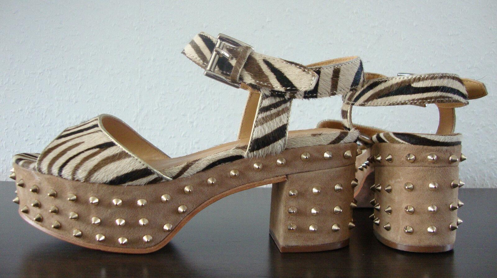 ASH CAPRICE CAPRICE CAPRICE Sandal Leder Schuhe Damen Sandalette Sandalen Nieten Animal Gr37 NEU eabbab