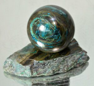 Shattuckite-Chrysocolla-in-quartz-polished-sphere-1-50-034-with-stand-ball-14144