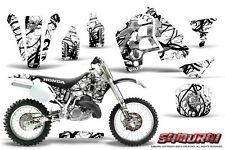 HONDA CR500 89-01 CR 500 GRAPHICS KIT CREATORX DECALS STICKERS SAMURAI BW