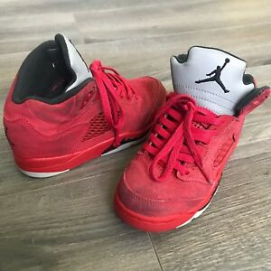 274bed21b73 Nike Air Jordan Retro 5 Flight Suit University Red Suede Black ...