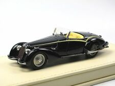 TSM Model 1938 Alfa Romeo 8C 2900 B Lungo Touring Spider Superleggera Black 1/43