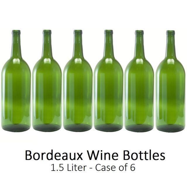 Empty Magnum Wine Bottles 1.5 L - Bordeaux/Claret Style - Case of 6 - Homebrew
