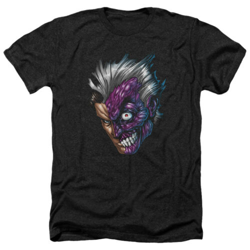 Batman Two Face Picture JUST FACE Licensed Adult Heather T-Shirt All Sizes