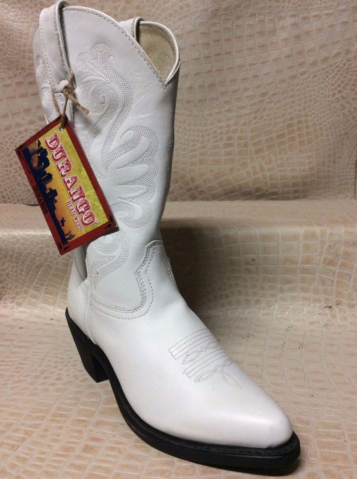Womens Durango Cowgirl Leather Ladies Fashion Western White Cowboy Boots