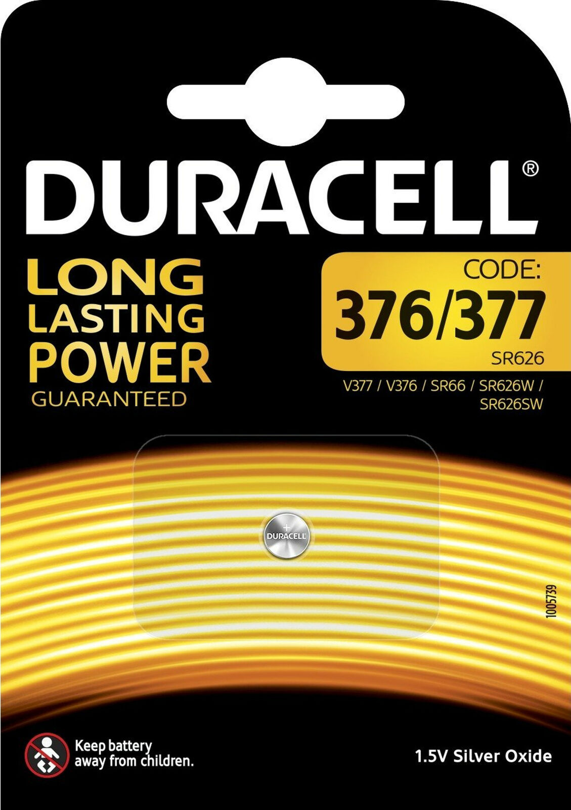 10x Duracell Specialty 377 Silver Oxide Button Cell 1,55 V D377 V377 1er