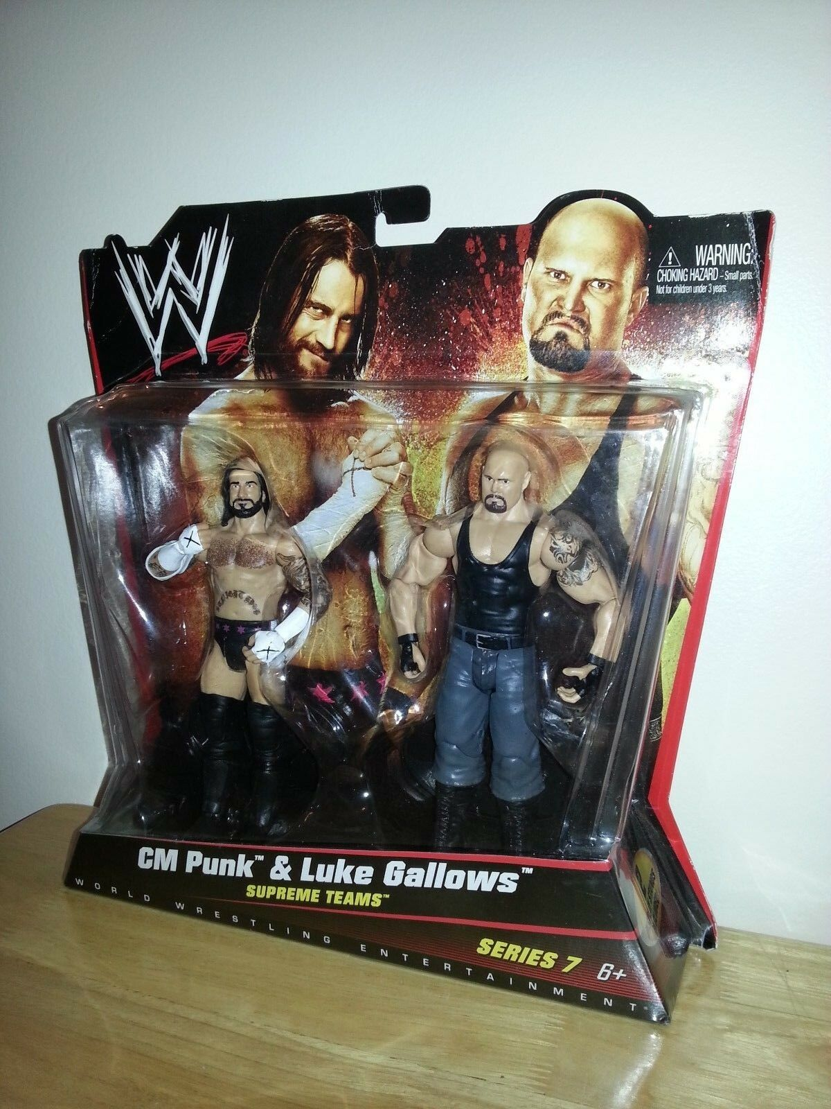 WWE Mattel 2010 Supreme Teams Series 7 CM Punk Luke Gallows Wrestling Figures