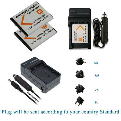 Batería 2x para Sony CyberShot digicams np-bg1 np-fg1