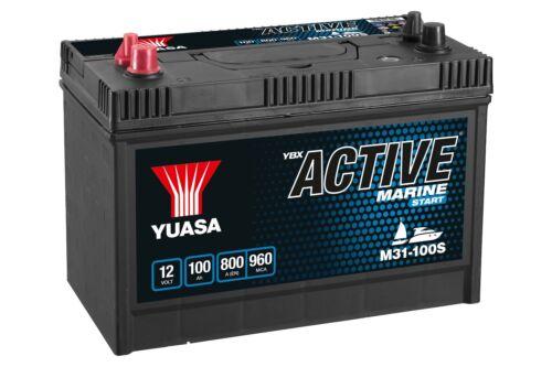 Yuasa YBX Active M31-100S / M31-100 12V 100Ah Marine Boat Battery