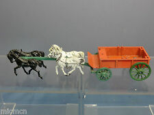 VINTAGE BUDGIE MODEL No.XXX 4 HORSE DRAWN  OPEN WAGON