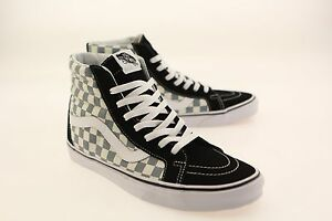 2931384fb8 Image is loading Vans-Men-Sk8-Hi-Reissue-Checkerboard-black-citadel-