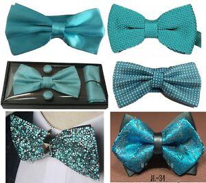 Handmade Plain Turquoise Satin Classic Men/'s Tie Regular Tie Neck Tie
