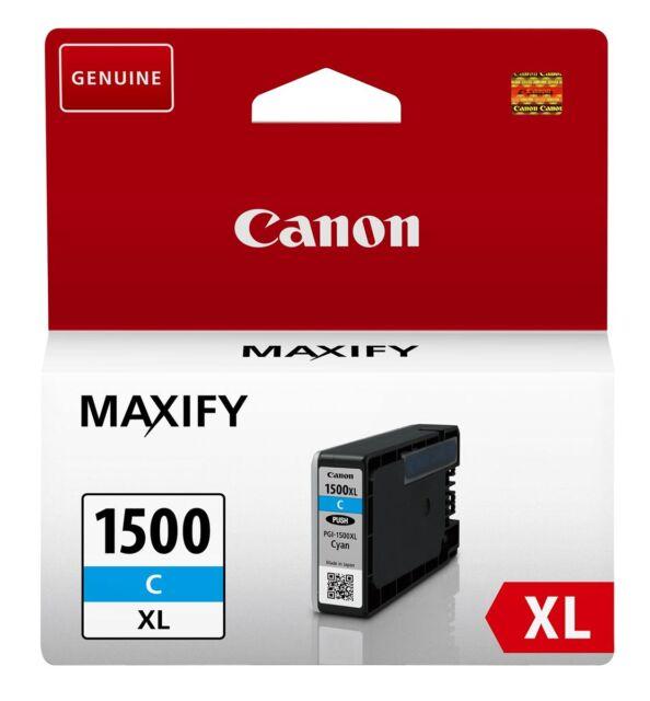 CARTOUCHE CANON CYAN PGI-1500 XL / pgi 1500 c bleu pour maxify mb2050 mb2350