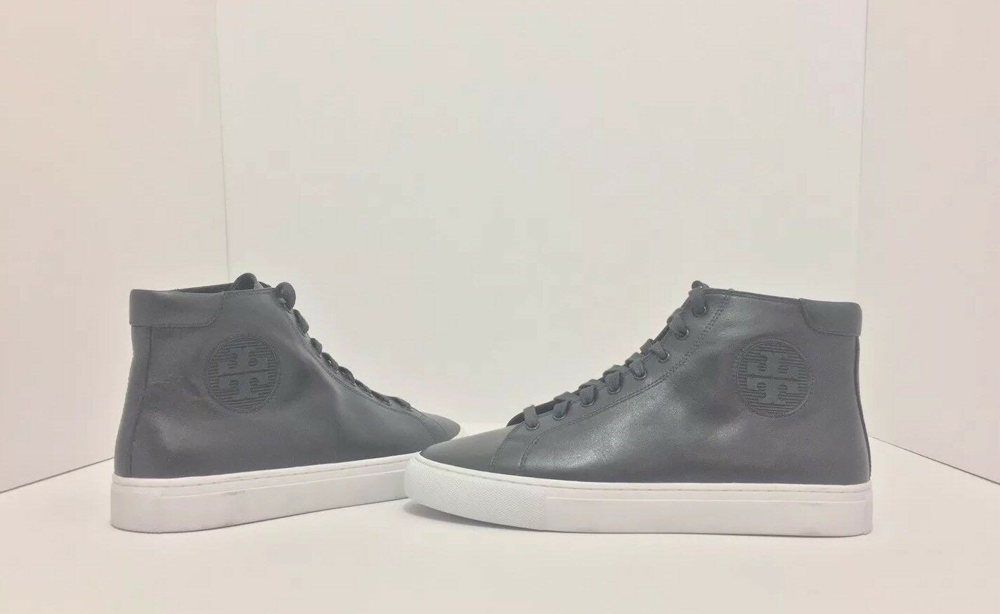 Tory Burch Nola High Top Navy Leder Flats Sneakers Größe 8.5 M