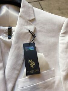 Mens Modern Fit Polo Shirt Size Medium White U.S Polo Assn