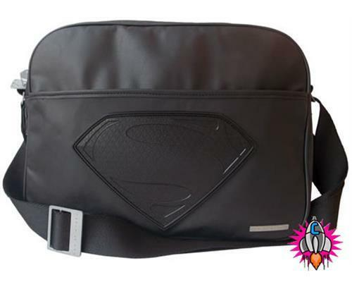 NEW OFFICIAL DC COMICS SUPERMAN BLACK LOGO SHOULDER MESSENGER SATCHEL SCHOOL BAG
