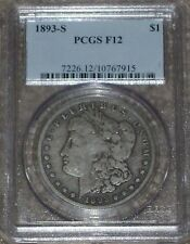 "1893-S Silver Morgan Dollar Graded PCGS F12  ""The Moster Key"" !!!"