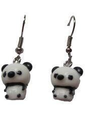 Ohrringe Hänger Ohrhänger Koala Bär Panda federleicht Kunststoff Bambus *738*