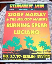 SUMMER JAM Ziggy Marley Burning Spear 1997 tour poster 34 x 23  original