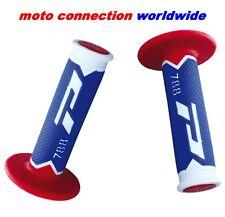 PRO GRIP 788 BLUE/RED/WHITE TRIPLE DENSITY MOTOCROSS GRIPS YAMAHA YZ125 YZ250