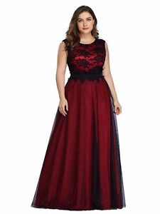 Ever-Pretty Women Appliques Long Formal Prom Dresses A Line Evening Ball Gown US