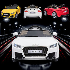 KIDS RIDE ON LICENSED V AUDI TTRS ELECTRIC CHILDRENS REMOTE - Audi electric toy car