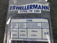 100 PACK T18R-BLACK PK100 100MM HELLERMANN TYTON BLACK - CABLE TIE