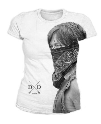 The Walking Dead-Daryl Dixon Sublimation Donna T-SHIRT BIANCO (TG S-XL)