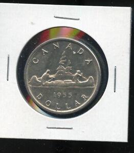 1955-Canada-Silver-Dollar-AU-B162