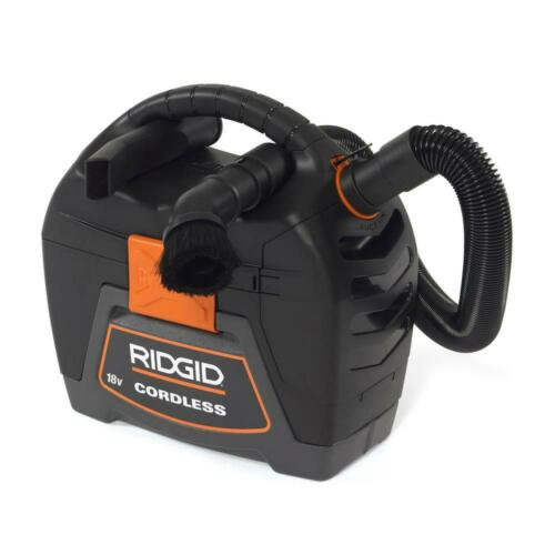 RIDGID Wet Dry Vacuum 3 Gal 18-Volt Cordless Filter Hose Accessories Tool Only