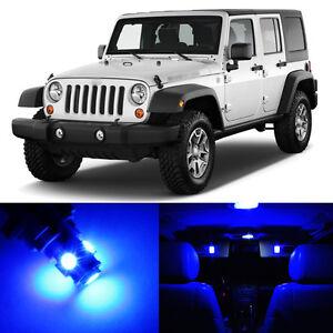 5 X Ultra Blue Led Interior Light Package For 2007 2014 Jeep Wrangler Ebay