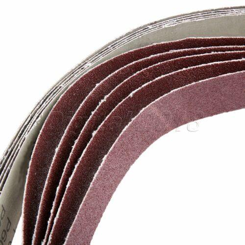 600# Grit Ponceuse Ceintures Abrasives Ponceuse Polissage Affûtage Sablage Papier 5pcs