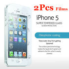 2Pcs Genuine Tempered Glass Film for Apple iPhone 5S & 5C Screen Cover Protector