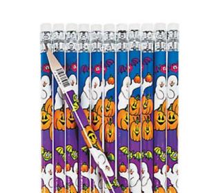 Pack-of-12-Halloween-Ghost-Pencils-Halloween-Party-Loot-Bag-Fillers