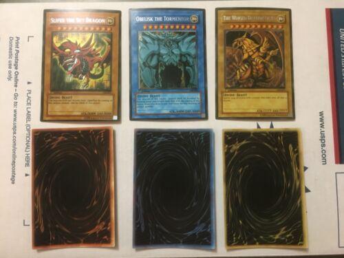 "Yu-Gi-Oh ""Orica"" FanMade God Cards Set Slifer Obelisk Winged Dragon of Ra Proxy"