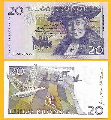 Sweden Banknote P63a 20 Kronor 1998 AU