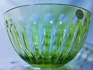 Image Is Loading Ajka Crystal Goneril Fruit Bowl Lime Green