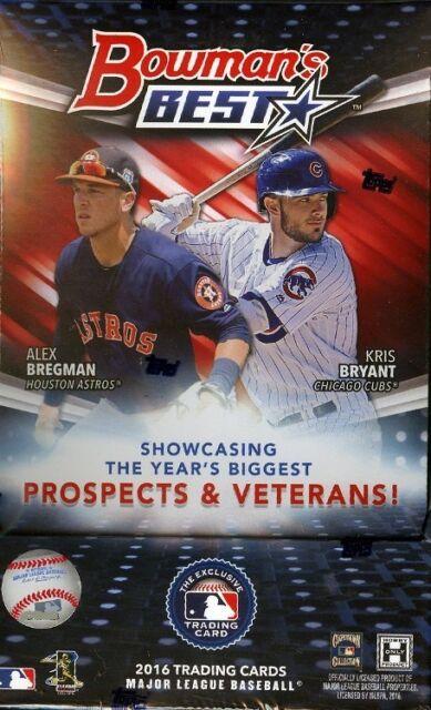 2016 Bowmans Best Baseball Hobby Box 12 Packsbox 5 Cardspack 4 Autographsbox