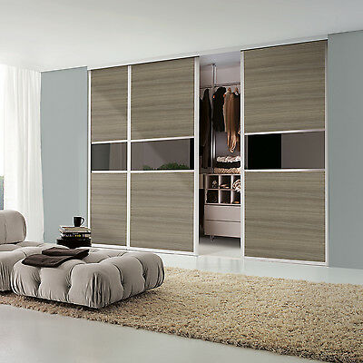 Audacious Luxury Driftwood Sliding Doors Multipanel Opening Size 3450w X 2440h Home & Garden Armoires & Wardrobes