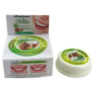 10g Coconut Oil Toothpaste Herbal Natural, Clove, Mint, Teeth Whitening TOP P1M2